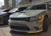 temporary air dam shipping covers are the hottest mod for Dodge Charger Yellow Bumper Guard