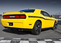 the dodge challenger srt8 392 yellow jacket shines in la Dodge Challenger Yellow Jacket