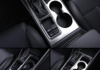 us 1618 17 offfor hyundai tucson accessories 2021 2021 2021 2021 stainless steel gear box glass panel cover water cup holder trim car styling in Hyundai Tucson Accessories